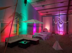 Lichtbeispiel Beachparty Santa Fe Beach
